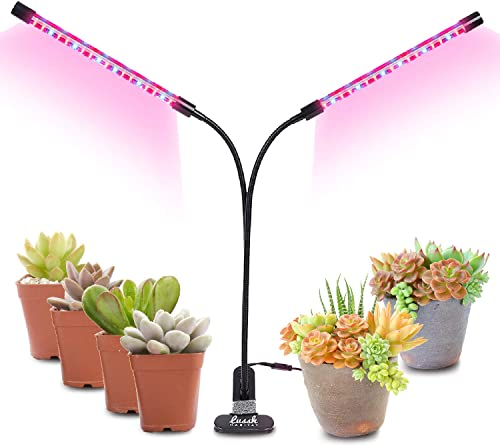 Addprime Grow Lights Lamp, 20W Plant Lights Bulds with Clip Gooseneck 360 Degree Adjustable Full Spectrum Grow Lights for Hydroponics Indoor Garden Greenhouse Plants Vegetables Seedlings E27 200 Led
