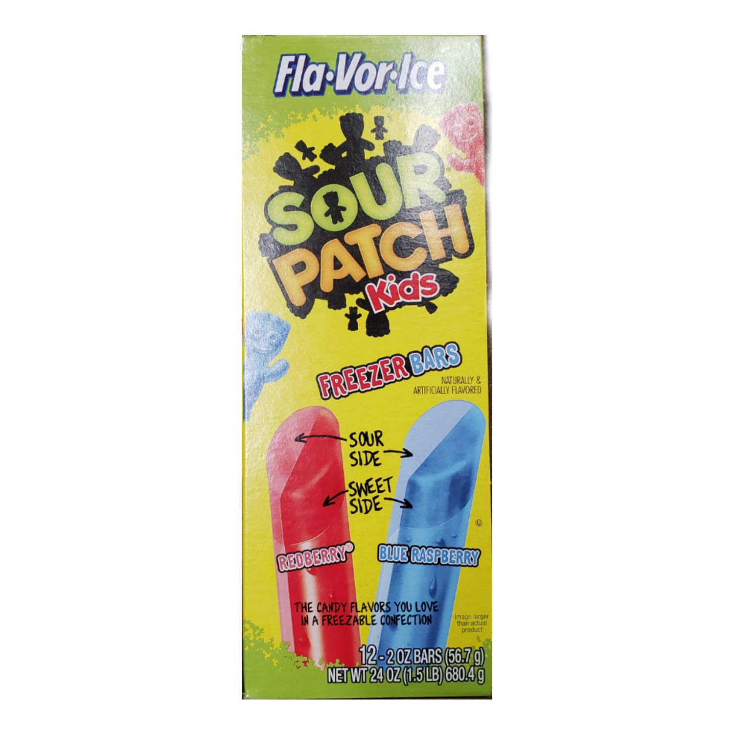 Freezer Pops Sour Patch Kids Redberry And Blue Raspberry, 12 - 2 Ounce Bars (1 Pack)