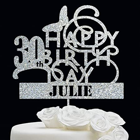 Decoración personalizada para tarta de cumpleaños de 30 ...