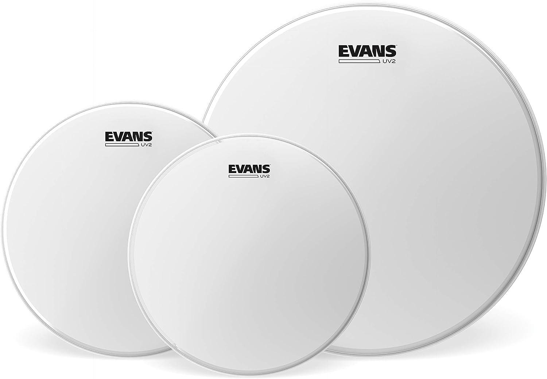 Evans UV2 - Pack de parches de tom rugosos, Fusión (10