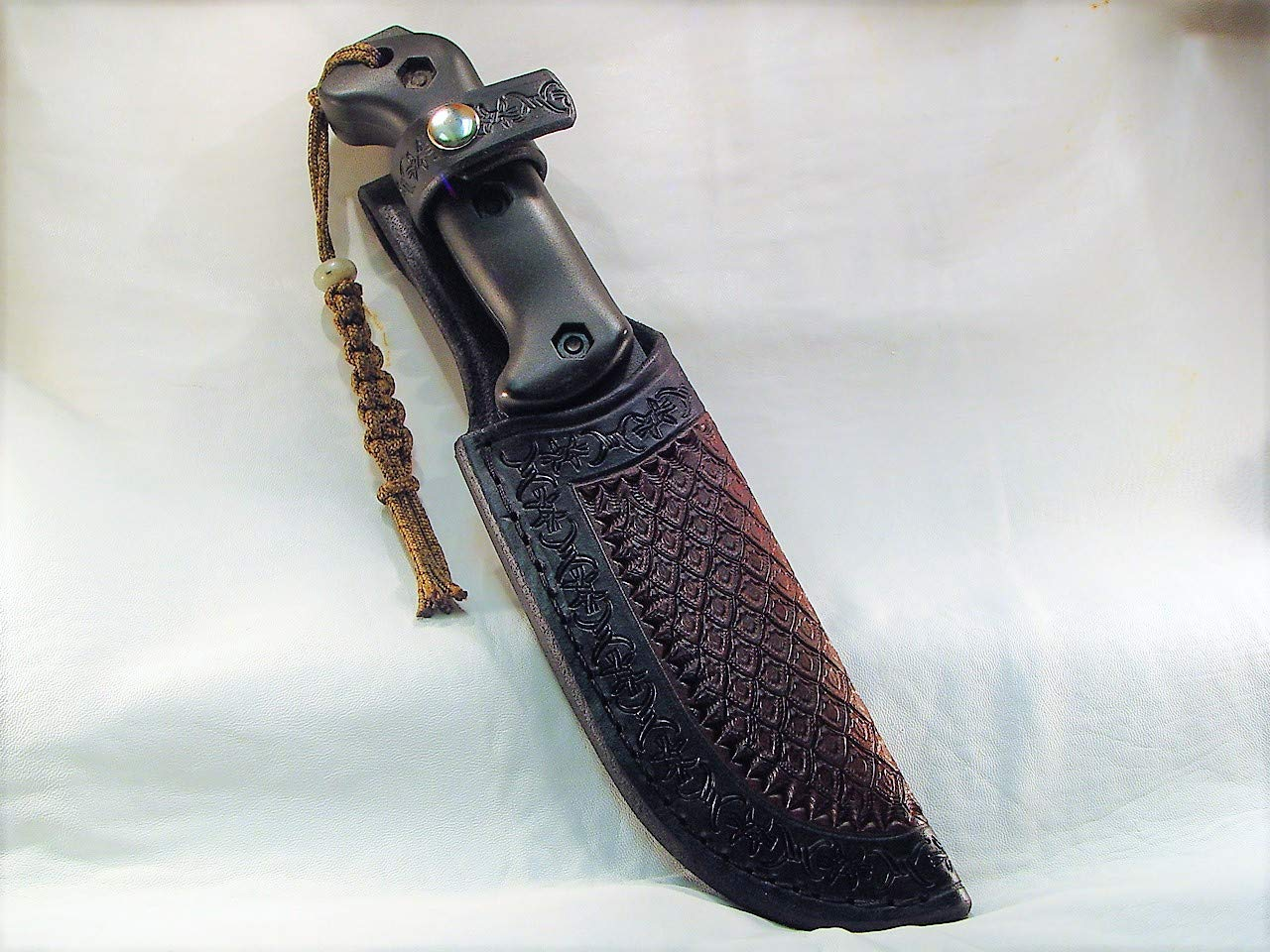 Leather custom sheath only fit the BK-2 knife not included