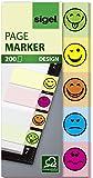 Sigel HN502 - Marcadores adhesivos (200 hojas, 20 x 50 mm), multicolor