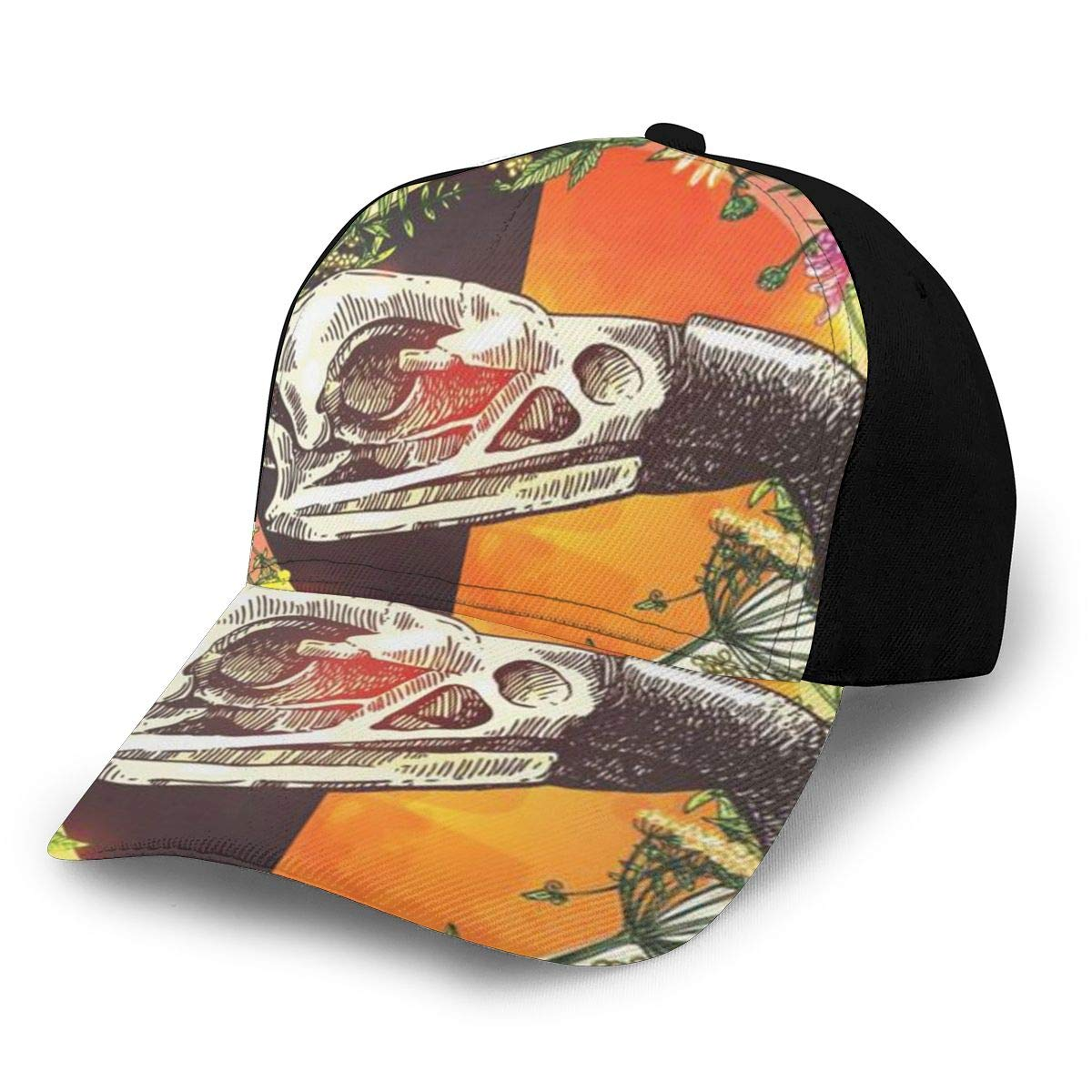 Sketch Animal Summer Baseball Caps for Men and Women with Adjustable Snapback Strap