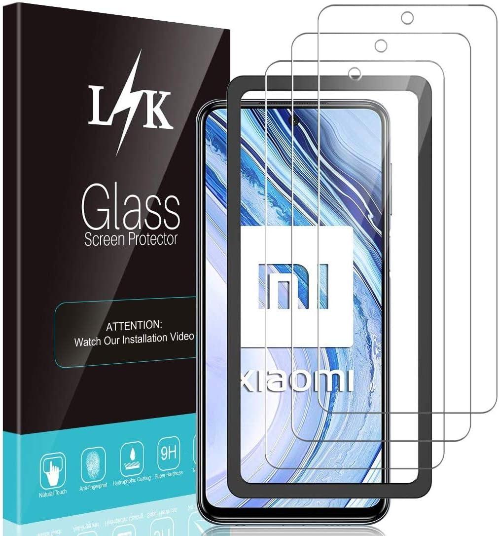 Resistente a Ara/ñazos 9H Dureza Vidrio Templado Protector Pantalla para Redmi Note 9S LK Protector de Pantalla para Xiaomi Redmi Note 9S // Note 9 Pro//Note 9 Pro MAX Cristal Templado, 3 Pack
