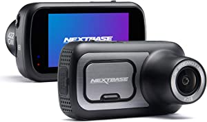 "Nextbase 422GW Dash Cam 2.5"" HD 1440p Touch Screen Car Dashboard Camera, Amazon Alexa, WiFi, GPS, Emergency SOS, Wireless, Black"