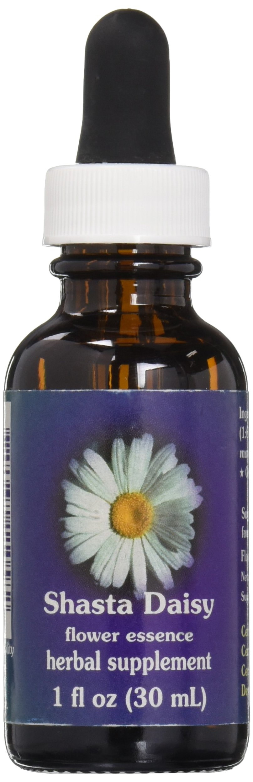 Flower Essence Services Dropper Herbal Supplements, Shasta Daisy, 1 Ounce
