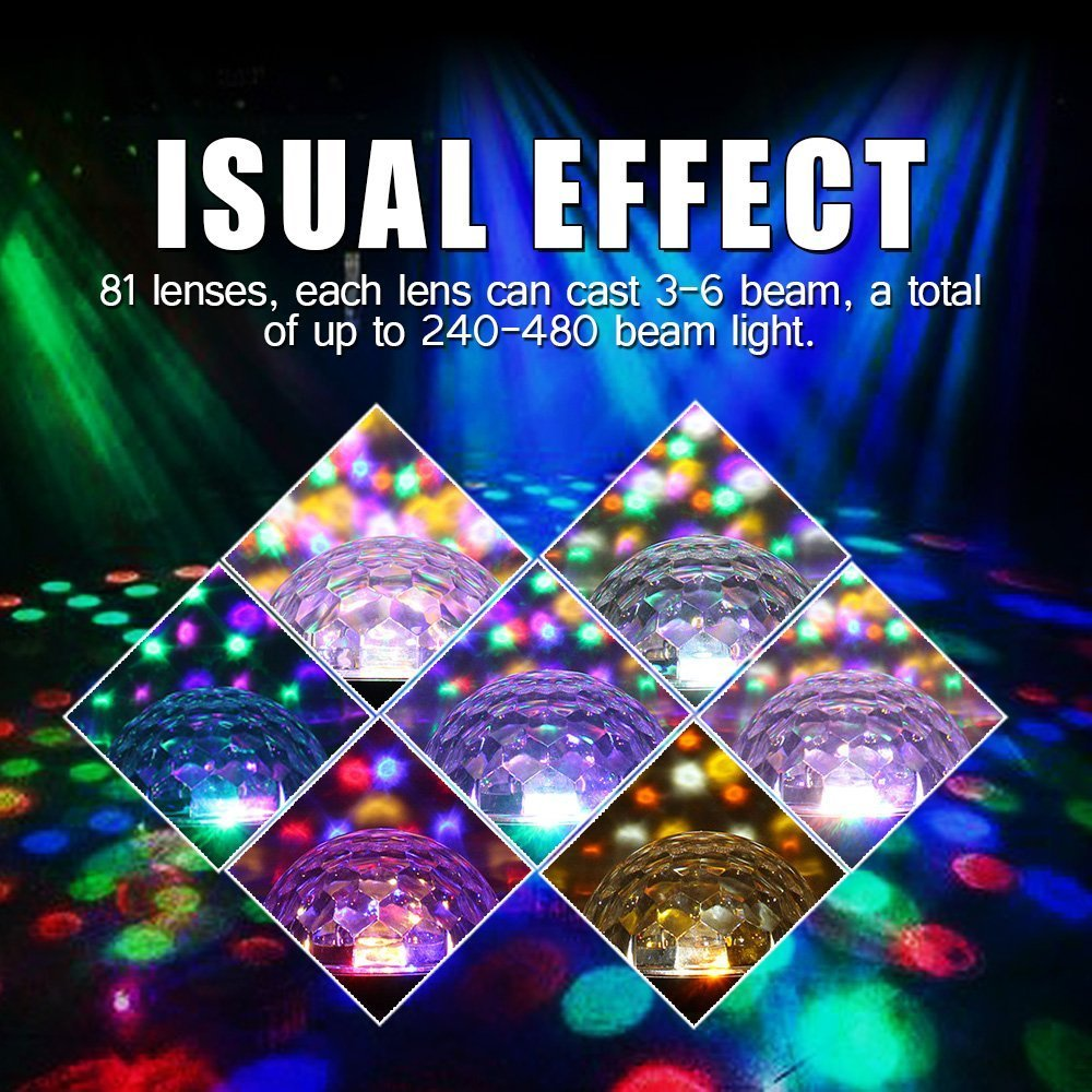 Stage Lights,Prolight LED Grystal magic ball light Led Projection Party Disco Ball DJ Lights Bluetooth Speaker Rotating Light with Remote Control Mp3 Play for KTV Xmas Party Wedding Show Club Pub by Prolight (Image #5)