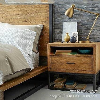 Comodino di legno solido moderno Mobili in legno massello Camera da ...