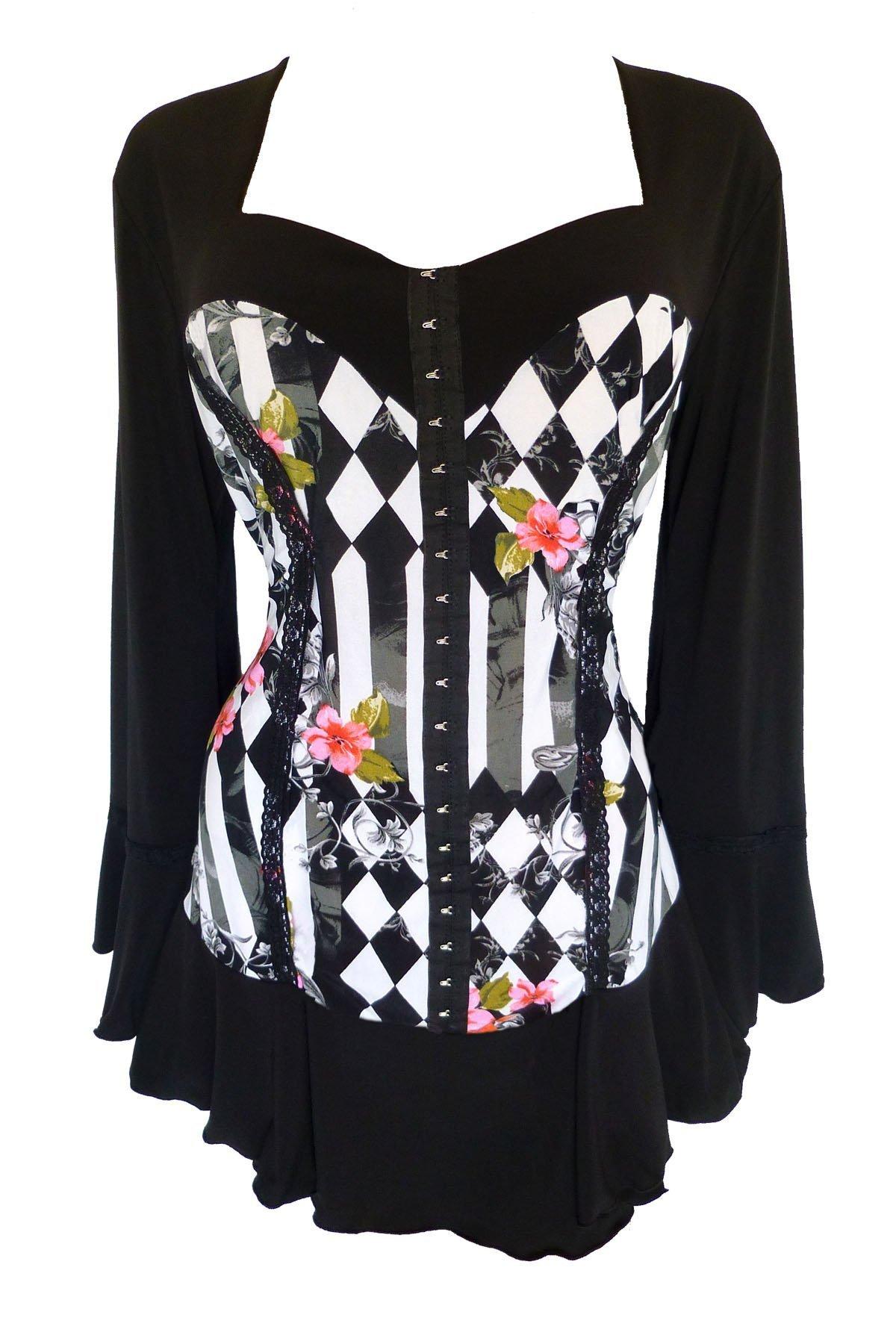 a5f9b85801 Dare To Wear Victorian Gothic Boho Women s Corsetta Corset Top Wonderland L