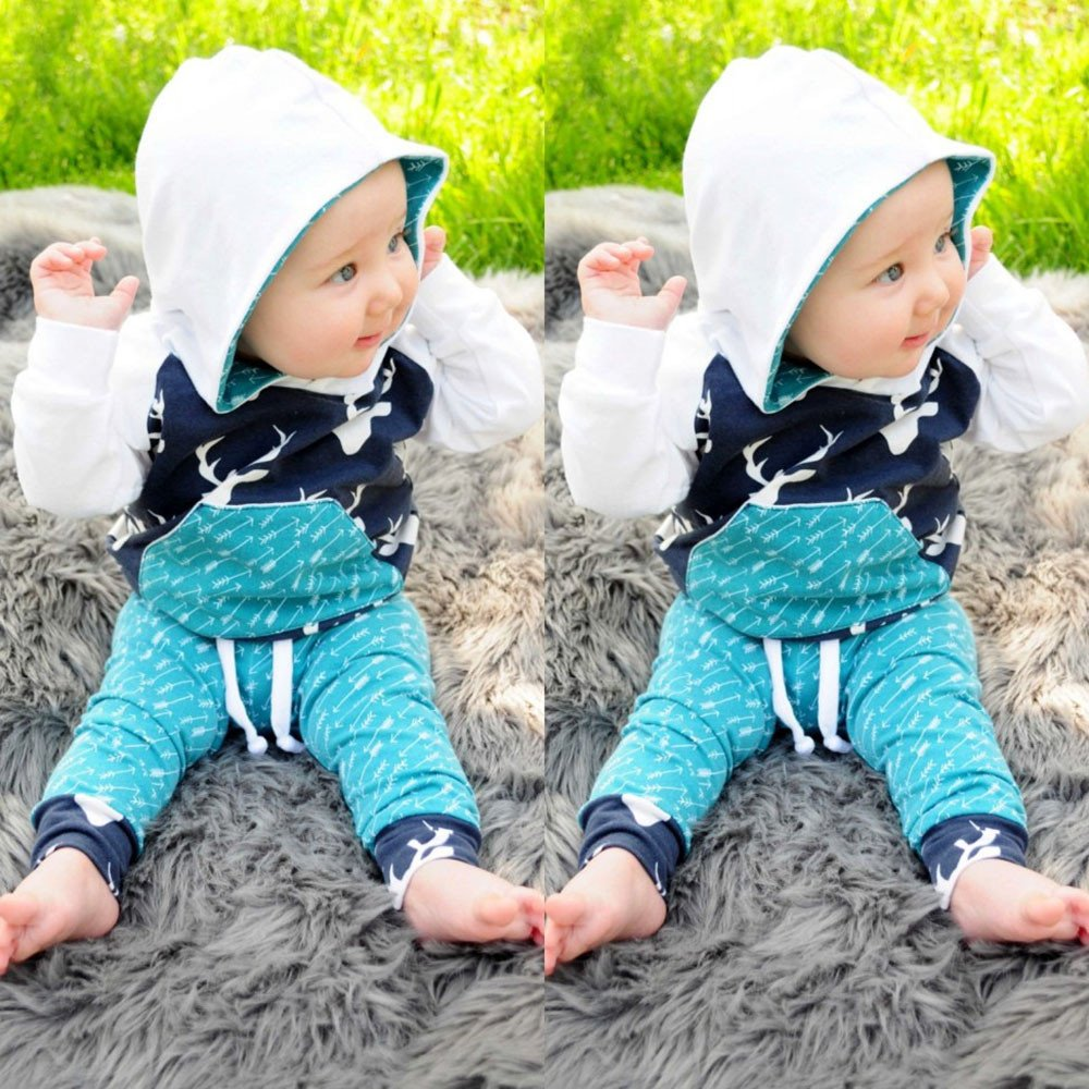 Amazon.com: CieKen Newborn Infant Baby Boy Girl Long Sleeve Bodysuit Romper Jumpsuit Striped Pant Hat Outfits Clothes Clothing: Clothing