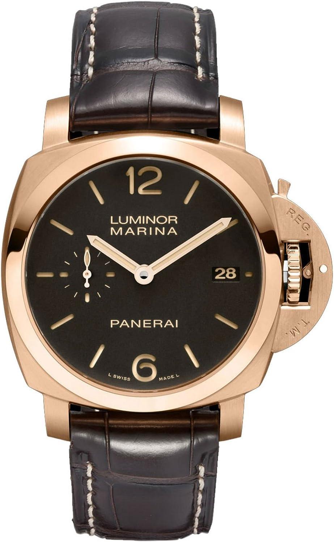 Panerai Luminor Marina 18K Rose Gold Automatic Watch - PAM00393