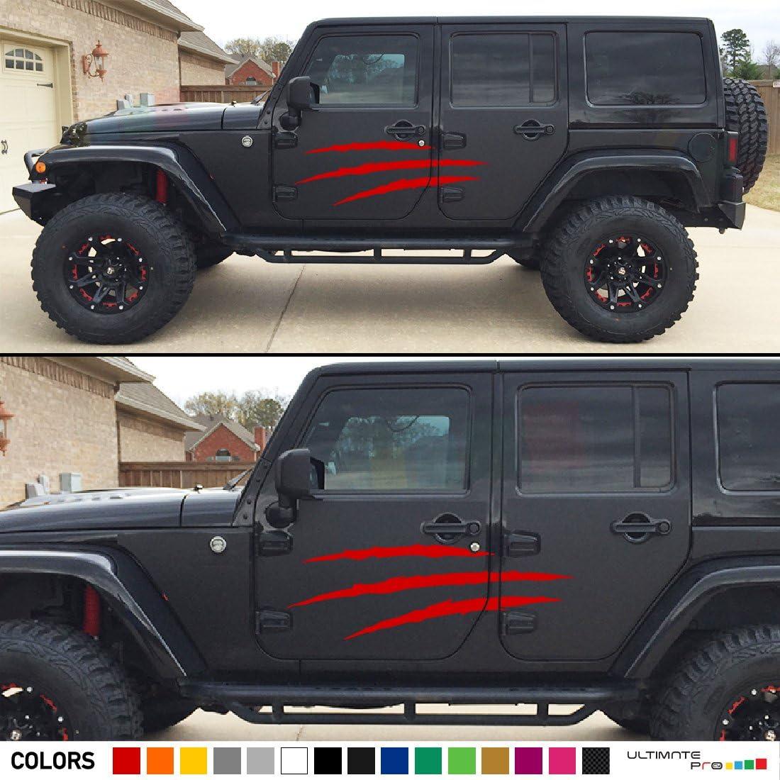 2x splash mud side Decal sticker door Compatible with Jeep ...