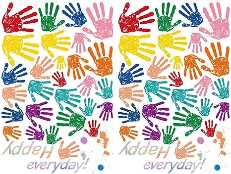 Hand Print Pairs Kids Classroom Wall Sticker Pack WS-33359