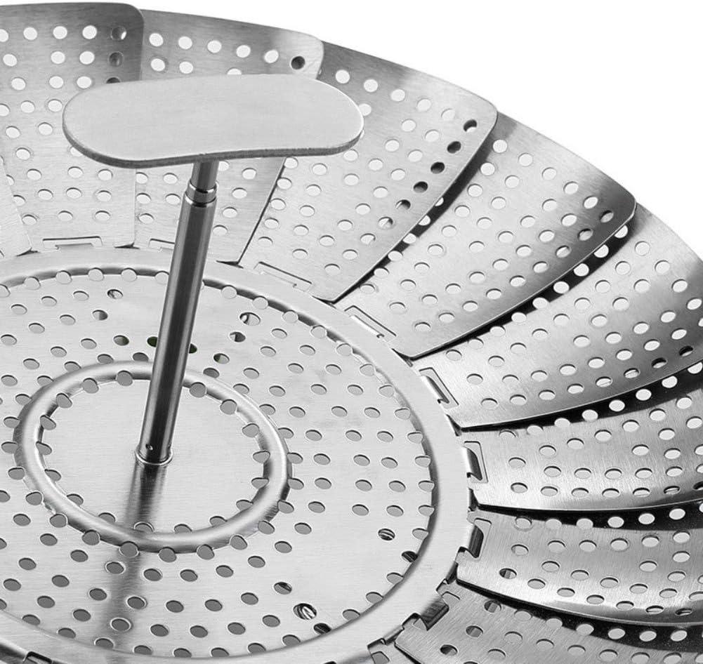 Steamer Basket Dampfgarer 11 Zoll Edelstahl Klapp Gem/üsedampfer Fit Verschiedene Topf Schnellkochtopf Savlot Steamer Inserts