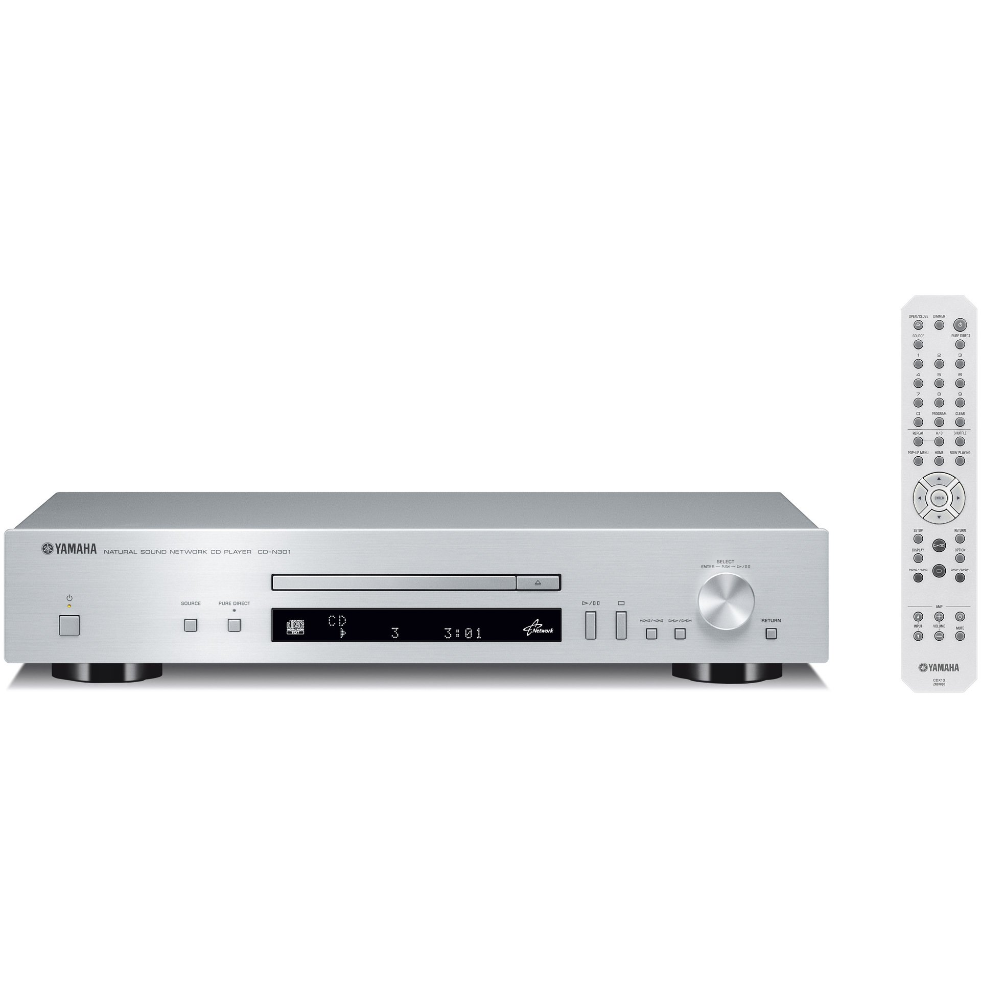 Yamaha CD-N301 (S) network CD player 192kHz / 24bit high resolution sound source corresponding Silver