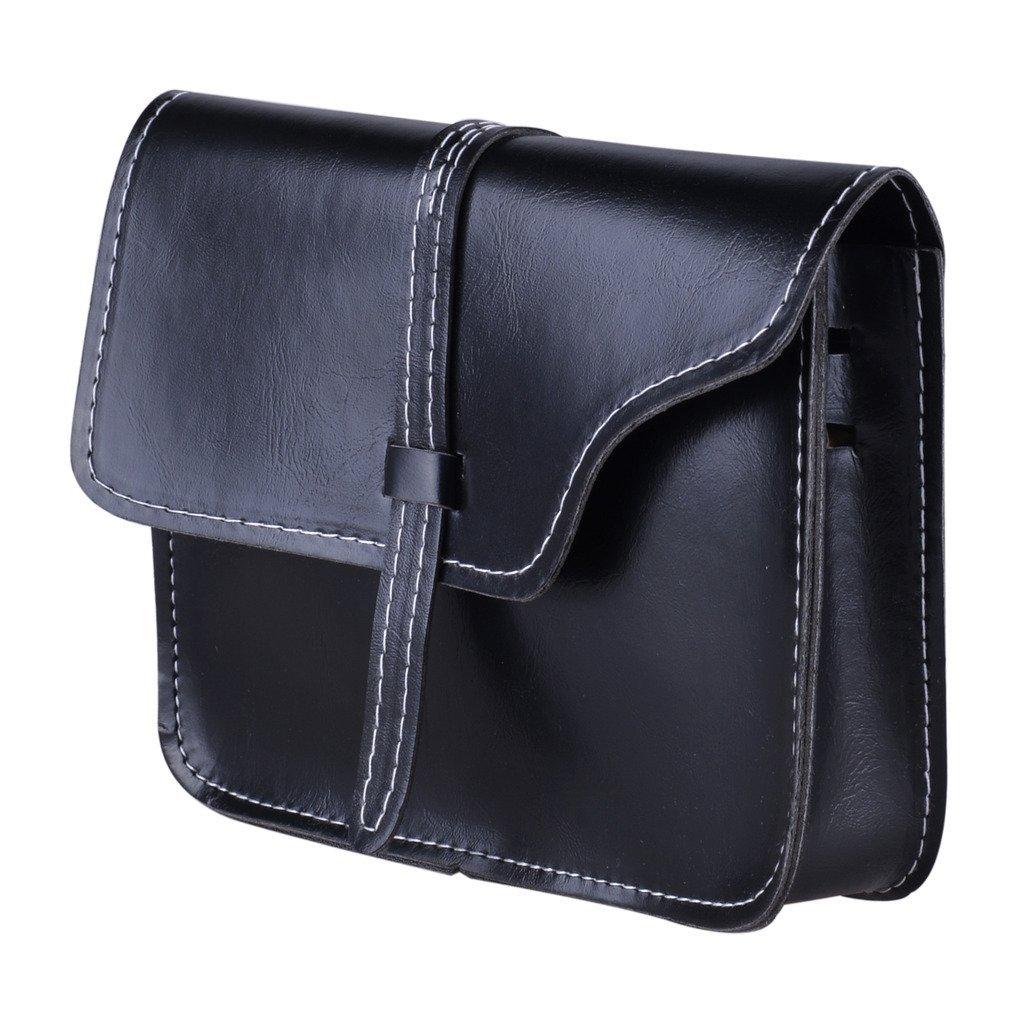 QZUnique Women's Soft PU Leather Fashion Vintage Style Cross Body Shoulder Bag Black by QZUnique (Image #6)