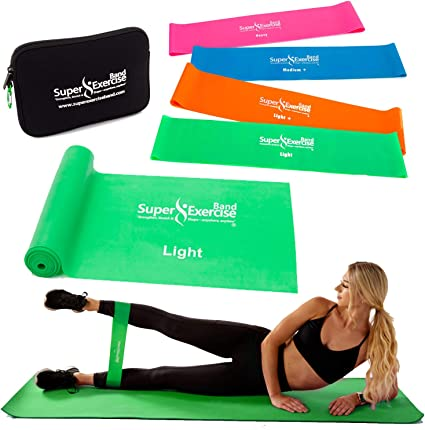 Resistance Bands Loop Set Of 5 Indoor Crossfit Fitness Yoga Exercise Band