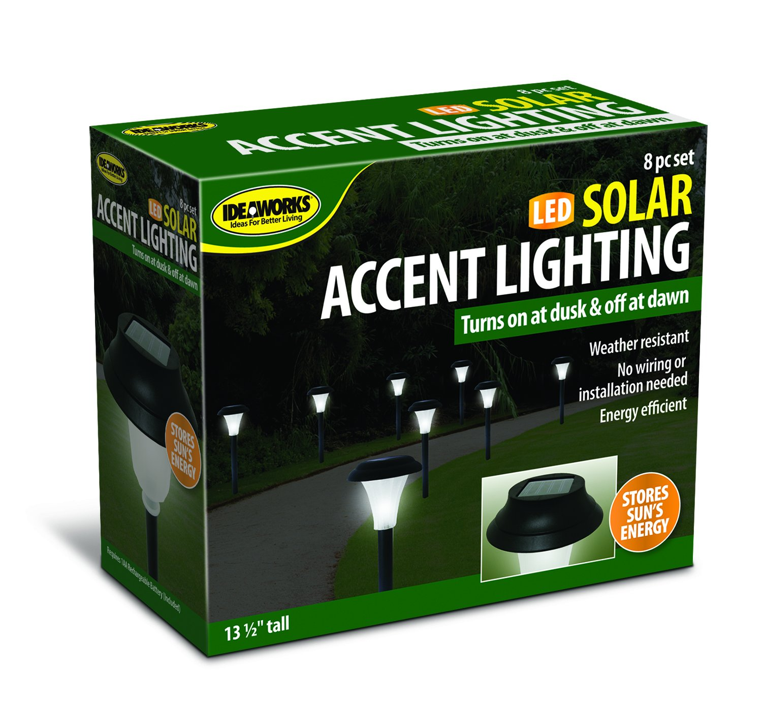 Groovy Ideaworks Jb5629 Solar Powered Led Accent Light Set Of 8 String Wiring 101 Vieworaxxcnl