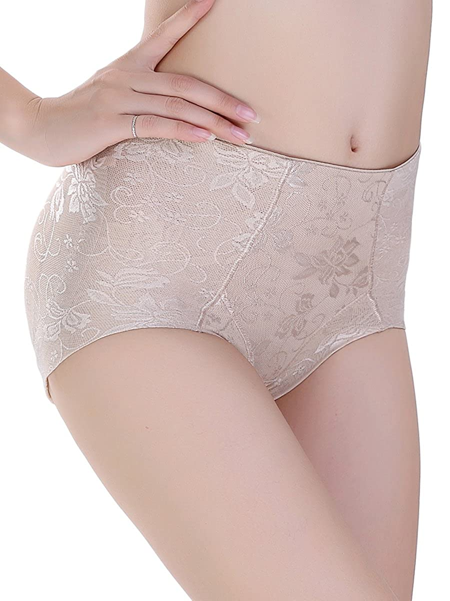 LAZAWG Women Padded Butt Lifter Body Shaper Lace Panty Shapewear Brief Enhancer CA881LAZAWG