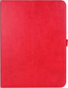 Jacquelyn Case for iPad Pro 12.9 2020/2018, Premium PU Leather Folio Stand Cover with Document Card Slots, Smart Cover for iPad Pro 12.9 inch 4th/3rd Generation (Color : Red)