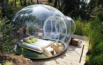 Tienda de campaña hinchable de burbujas, transparente, con ...