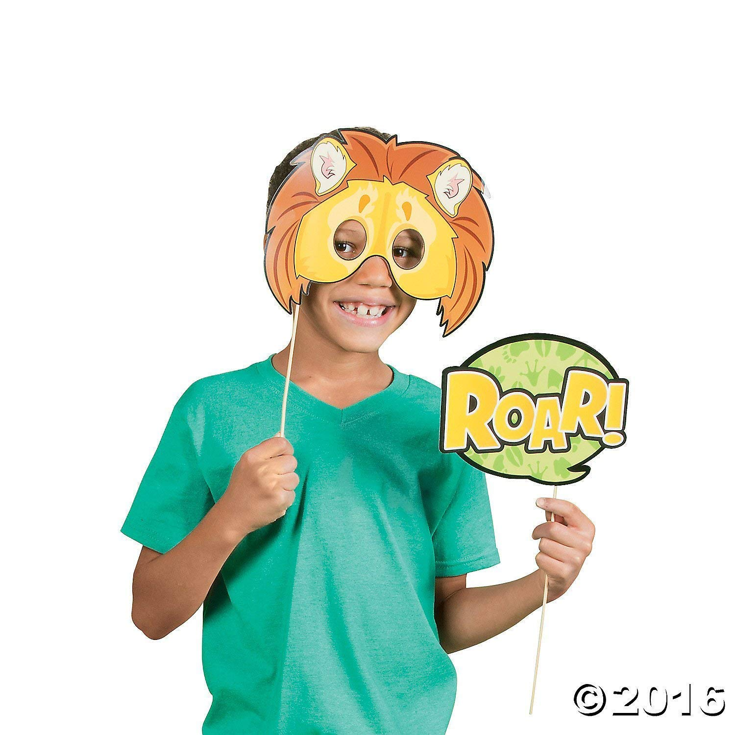 Fun Express Zoo Animals Photo Booth Stick Props by Fun Express (Image #2)