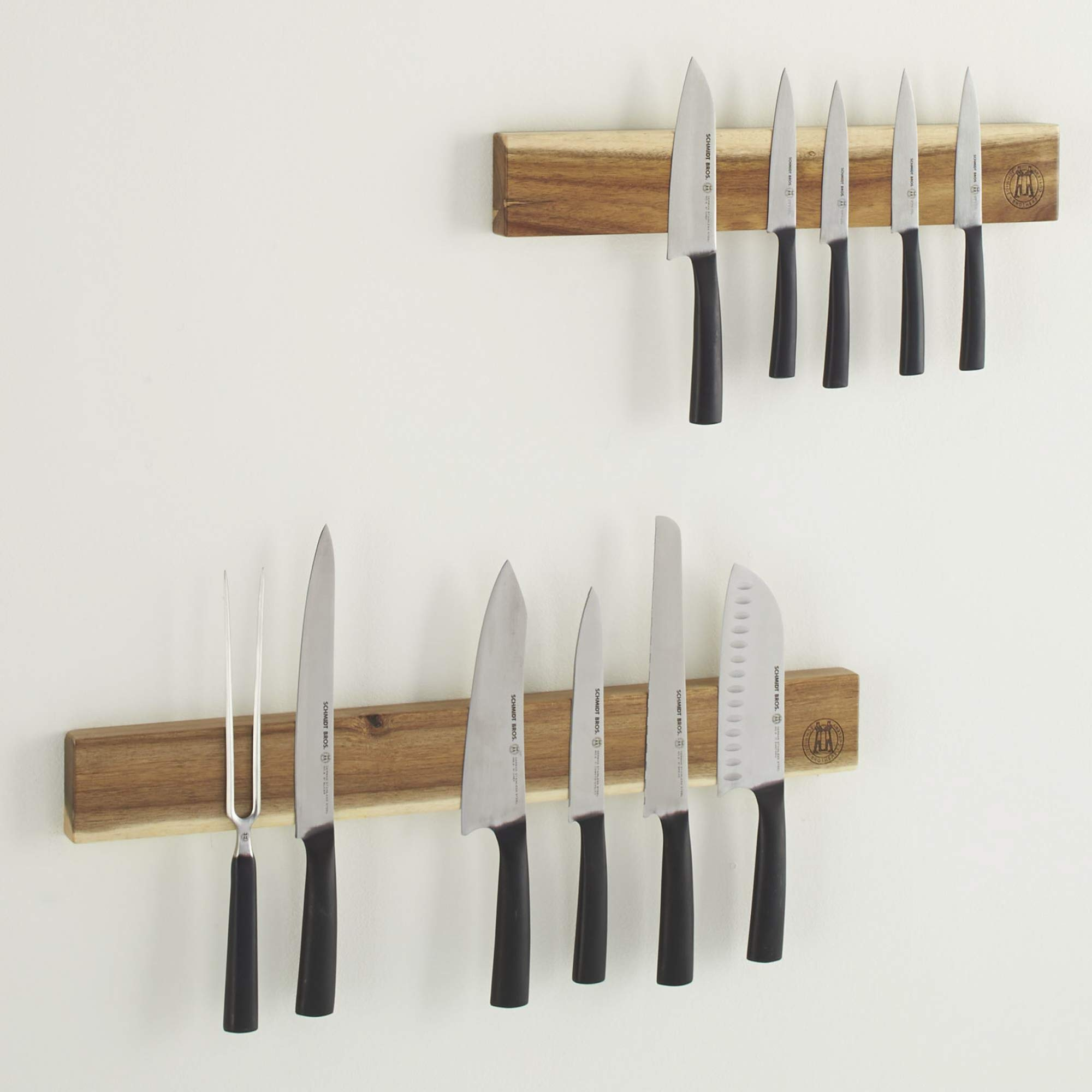 Schmidt Brothers - Acacia 18'' Magnetic Wall Bar, Universal Cutlery Storage Fits 8 - 10 Knives by Schmidt Bros. (Image #8)