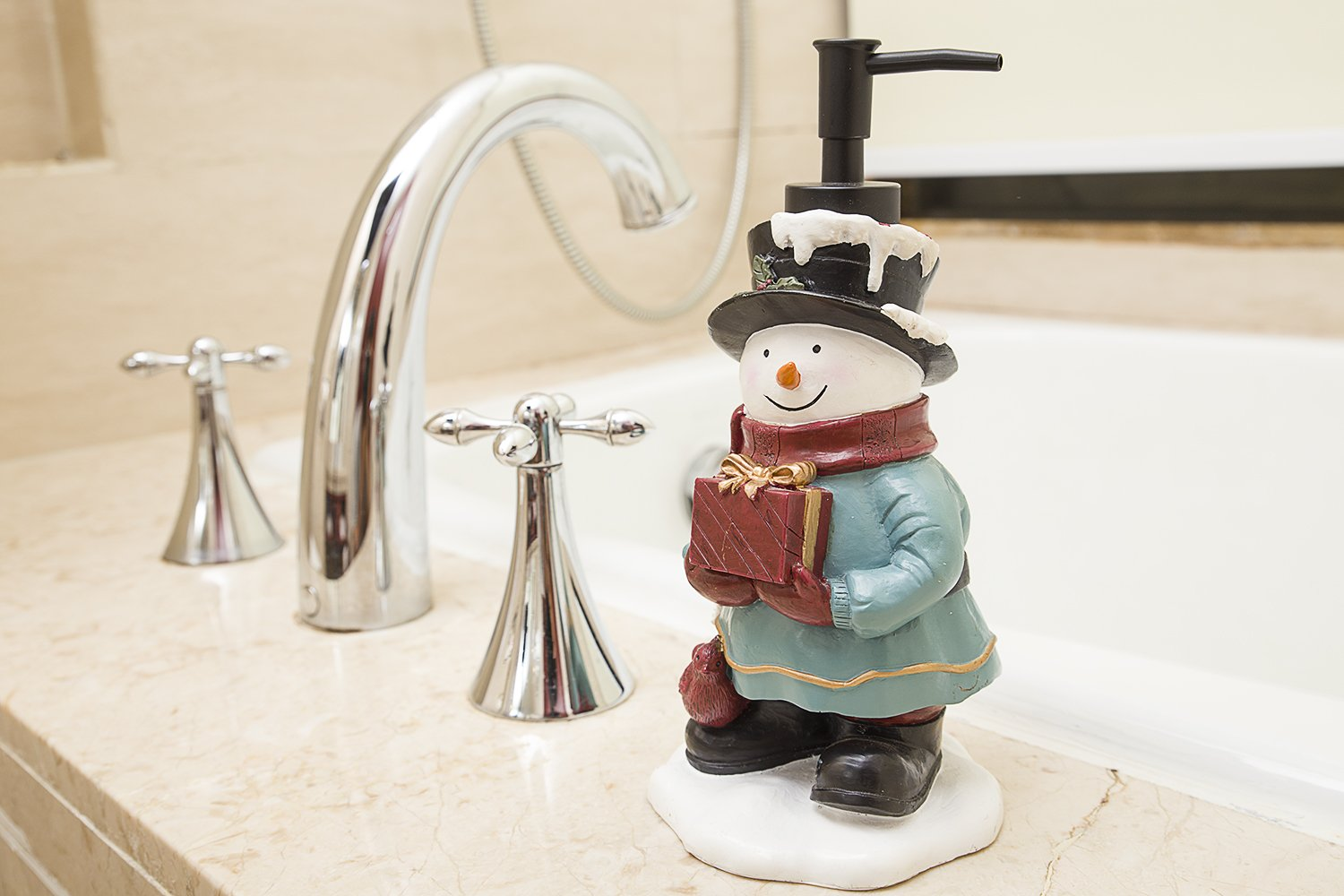 Amazon.com: Bathpro Bathroom Accessories,Shower Lotion/Soap Dispenser,Chritsmas Bath Set,Bath Collection (Snowman,Coloful): Home & Kitchen