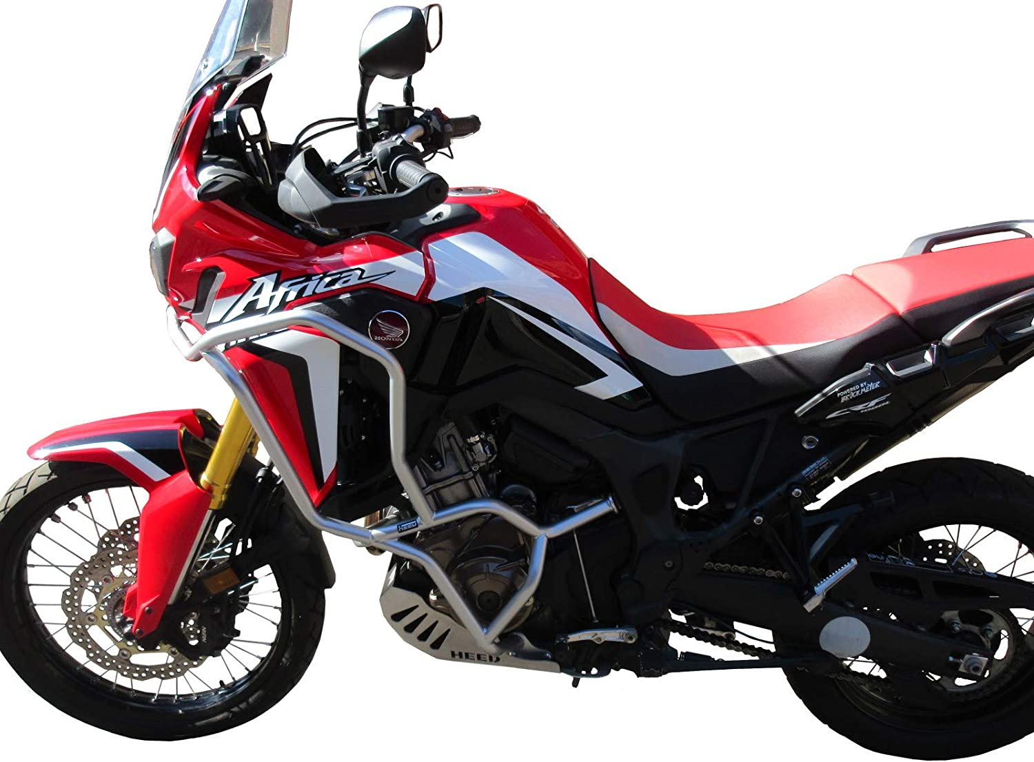 Pare carters HEED pour CRF 1000 Africa Twin Adventure Sports DCT Bunker argent/é