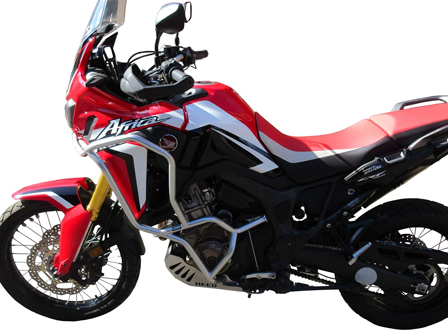 Paramotore HEED per CRF 1000 Africa Twin argento Bunker
