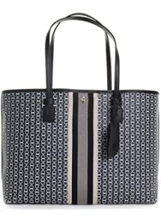 5898f714f98 Amazon.com  Tory Burch Gemini Link Tote in Black Gemini Link Stripe ...