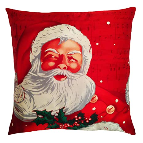Amazon.com: Filos Papá Noel almohada, rojo: Home & Kitchen