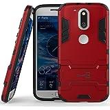Moto G4 Case, Moto G4 Plus Case, Moto G (4th Gen.) case CoverON [Shadow Armor Series] Hard Slim Hybrid Kickstand Phone Cover for Motorola Moto G4 Plus Moto G4 Moto G (4th Gen.)- Red