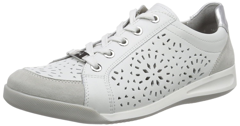 Ara ROM - Zapatillas Mujer 38.5 EU|Blanco - Wei (Kiesel,weiss/Silber 07)
