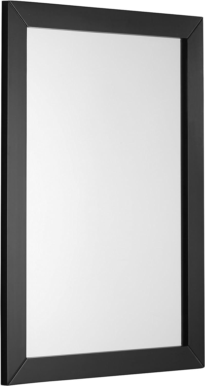 Simpli Home NL-ROSSEAU-ES-M-3A Chelsea 22 inch x 30 inch Bath Vanity Décor mirror in Black