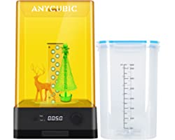 ANYCUBIC Wash and Cure Station, Newest Upgraded 2 in 1 Wash and Cure 2.0 Machine for Mars Photon S Photon Mono LCD SLA DLP 3D