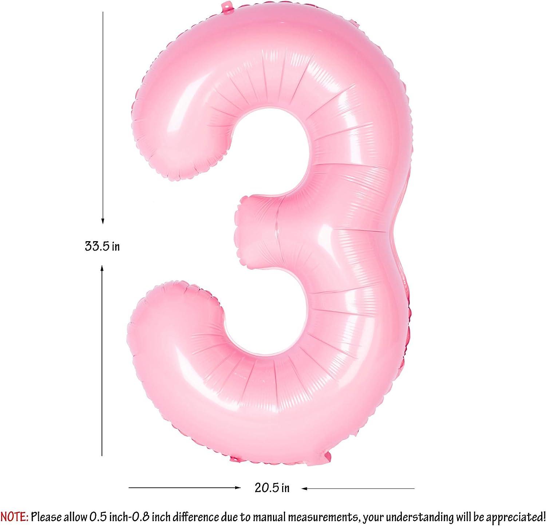 Amazon.com: Globo de helio con números rosas de 40 pulgadas ...