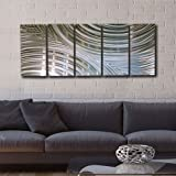Giant Silver Metal Wall Sculpture - Metal Wall