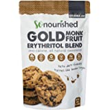 Golden Brown Monk Fruit Sweetener with Erythritol (1.14 kg / 2.5 lb) - Perfect for Diabetics and Low Carb Dieters - 1:1 Sugar Replacement - No Calorie Sweetener, Non-GMO