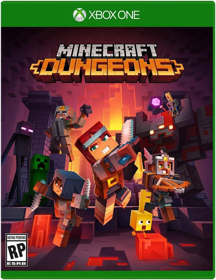 Amazon Com Minecraft Dungeons Standard Edition Xbox One