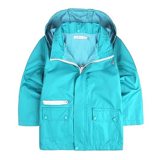 2c92a0c30 Amazon.com  Arshiner Kids Boy Rain Jacket Outwear Coat with Hoodie ...