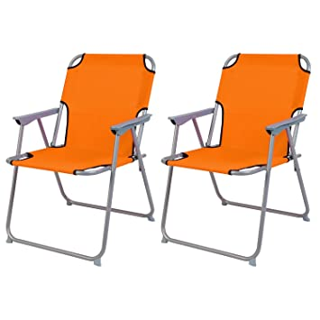 2 pieza Bresetech - Silla plástico oxfort Naranja silla ...
