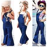 43646131ac Franterd Baby Girls Boys Straps Rompers Denim Harem Overall Backless  Jumpsuit Jumper Bell Bottom Flares Trousers