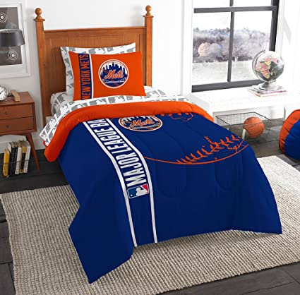 Amazoncom Mlb New York Mets Soft Cozy 5 Piece Twin Size Bed In