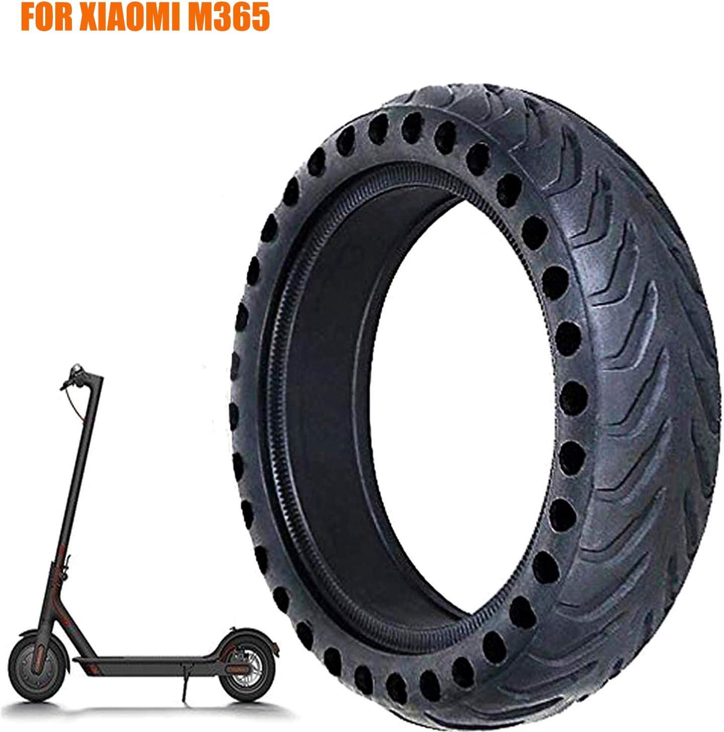 FOXNSK 8.5 Pulgada Sólido Neumático para Xiaomi mijia M365, Frente/Posterior Caucho Neumático Rueda Reemplazo para Eléctrico Scooter 8 1/2x2 Antideslizante