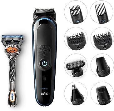 Braun All-in-one MGK5080 depiladora para la barba Mojado y seco Negro, Azul - Depiladoras para