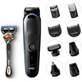 Braun 9-in-1 All-in-one trimmer MGK5080 Beard Trimmer & Hair Clipper, Body Groomer, Ear & Nose Hair Trimmer, Detail Trimmer Attachment, Black/Blue