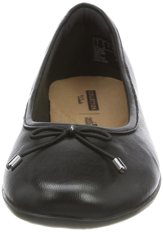 Clarks Damen Schwarz Gracelin Blu Geschlossene Ballerinas, beige Schwarz Damen (schwarz Leder) 390fa7
