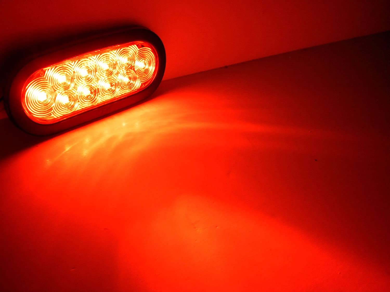 "Amazon.com: Jammy J-66-RK 6"" Oval Red LED Stop Tail Turn Light  Multi-Function: Automotive"