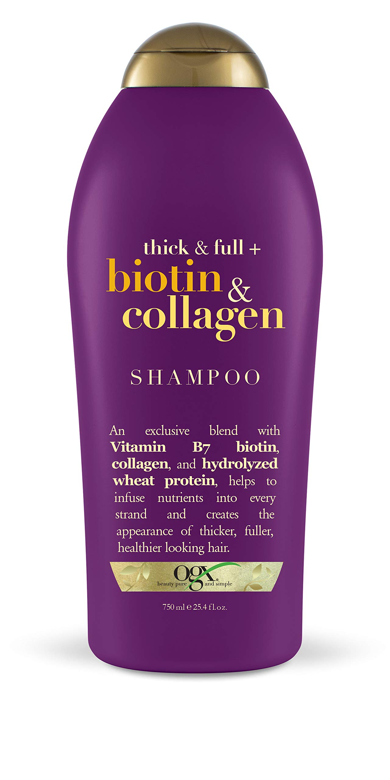 OGX Salon Size Thick and Full Biotin Shampoo, 25.4 Ounce